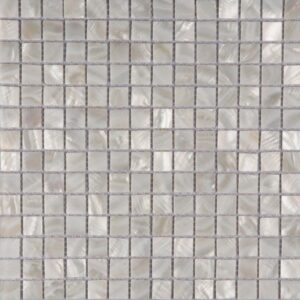 white square mother of pearl mosaic
